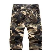 4de6fb7082 Camuflaje Camo Cargo Shorts hombre 2017 Nuevo Hombre Casual Shorts hombre  suelto trabajo Shorts Hombre Pantalones cortos
