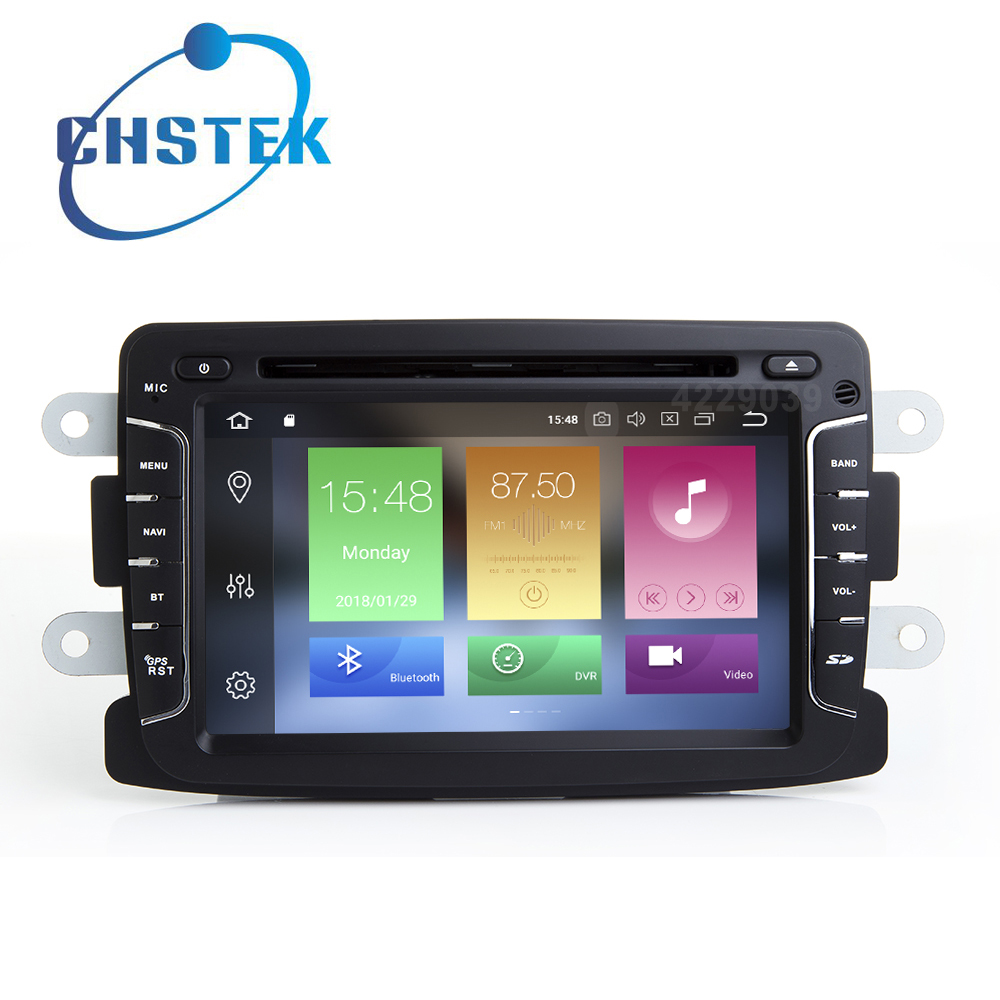 Octa core 4 GB di RAM Android 8.0 Car DVD multimedia Player per Dacia Renault Duster Logan Sandero con wifi BT GPS Radio stereo