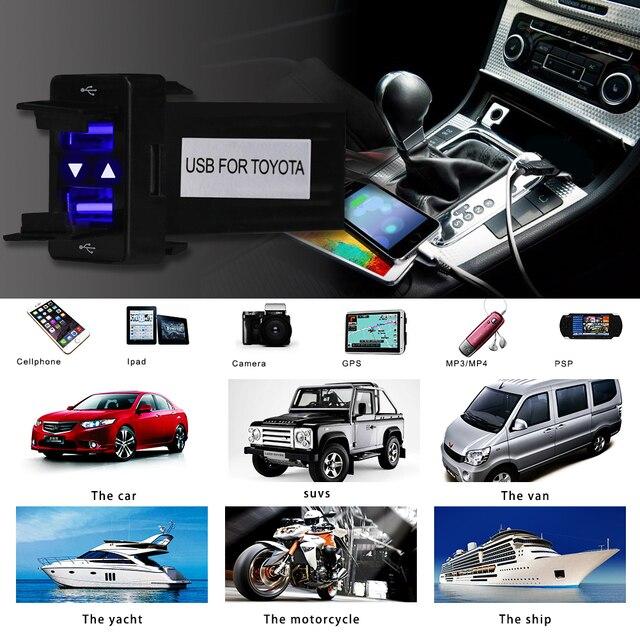 Herorider Dual USB Car Charger Wasserdicht 2.1A Netzteil Buchse Für TOYOTA USB Ladebuchse Auto Ladegerät Für Ipad Samsung