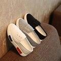 Moda Primavera y Otoño Infancia Media Zapato de Lona Para Niños Unisex Niños Chica Chico Materiales De Lona Ocasional Soild Color Del Zapato