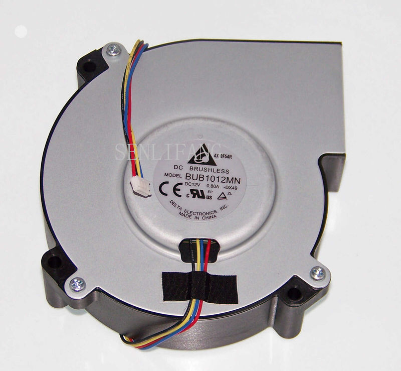 Free Shipping CH-TW6200/TW6600/PLHC3000 Projector Fan BUB1012MN 12V 0.8A Four-wire