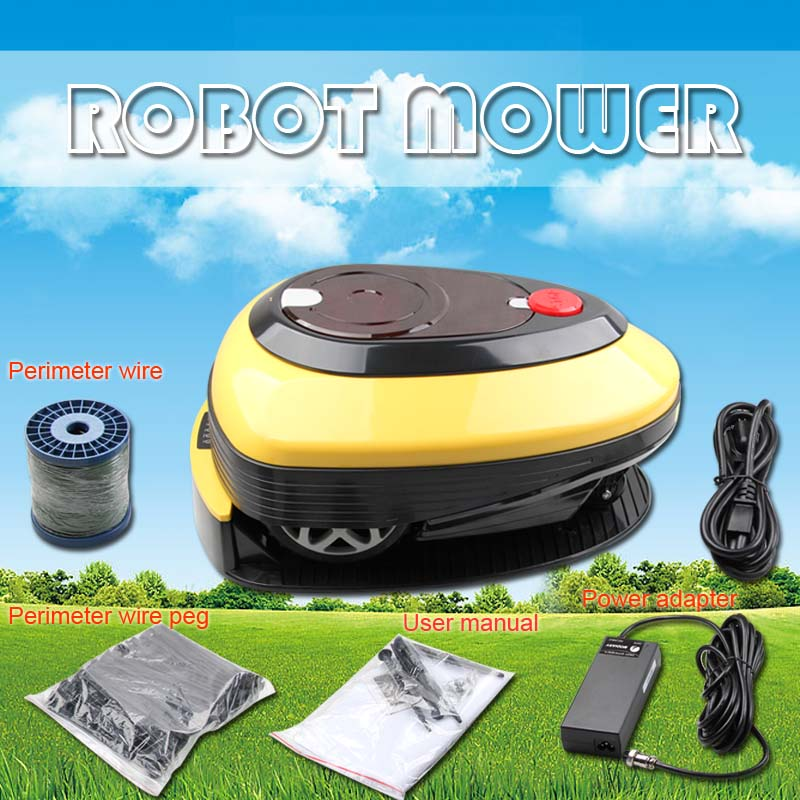 Robotic lawn mower L1000 4A Intelligent low noise Automatic Lawn mower with 1 font b pc