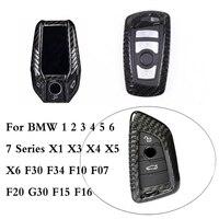 100% Carbon Fiber Car Key Case For BMW 1 2 3 4 5 6 7 Series X1 X3 X4 X5 X6 F30 F34 F10 F07 F20 G30 F15 F16 Car Key Cover