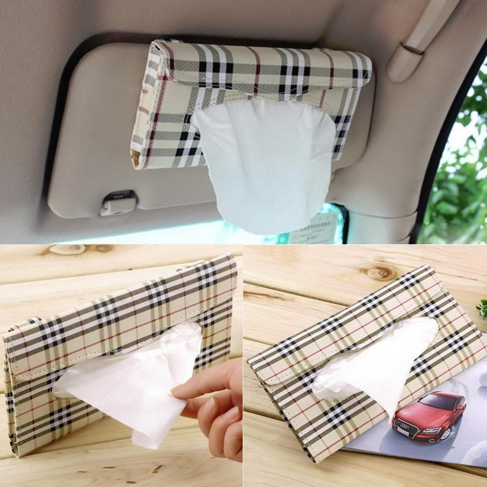1piece car tissue box cover car sun visor tissue box auto for 1 box auto
