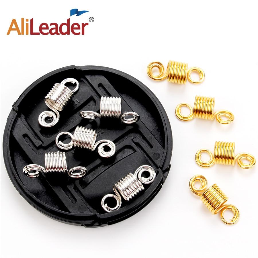 3d45b1f0fa3 Aluminum Hair Coil Dreadlocks Beads Cuffs Braiding Clips Spring Twisted  Braid Hair Rings For Braids Accessories Golden Silver