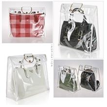 Модный прозрачный пылезащитный чехол-органайзер женский прозрачный держатель для чехол-сумка Hengreda для путешествий пляж скидка 50%