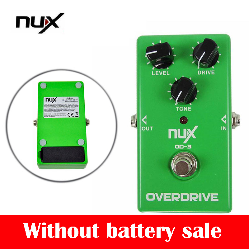 NUX OD-3High Quality Electric Guitar Effect Pedal True Bypass Warm Tube Natural Overdrive Sound Guitar Pedal with Aluminum Allo