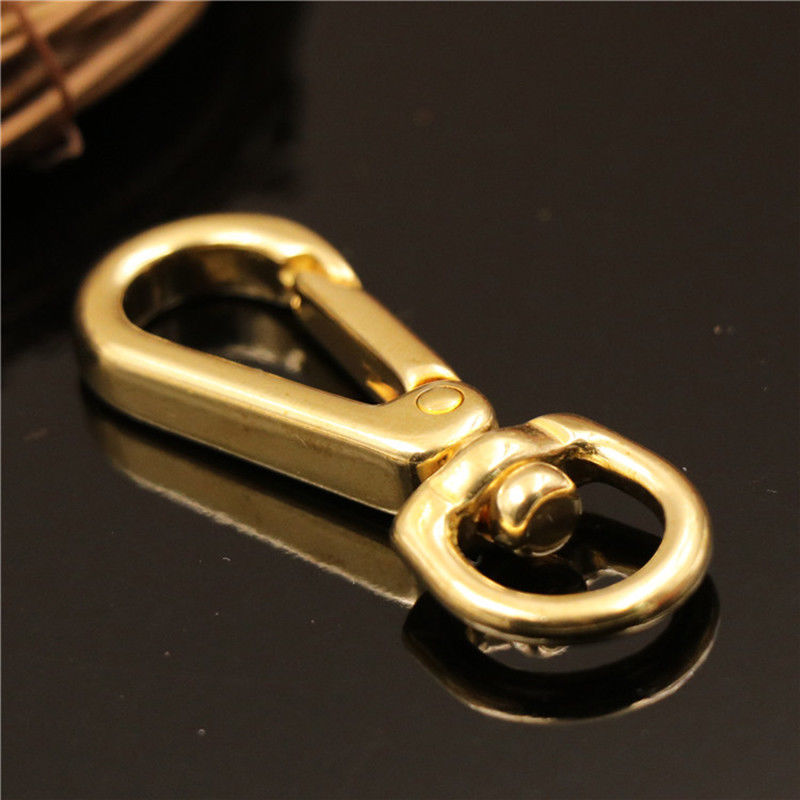 """2pcs Brass Double Swivel 3//4/"""" Eye Snap Chain Connector Ring Saddle Leathercraft"""