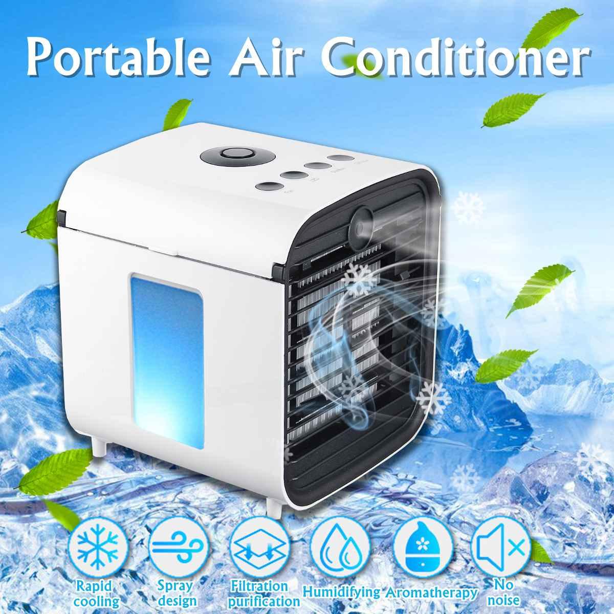 Conveniente Ventilador Refrigerador de Ar Portátil Digital Umidificador Espaço Fácil Fresco Purifica O Ar Ventilador de Refrigeração Do Condicionador de Ar para Home Office