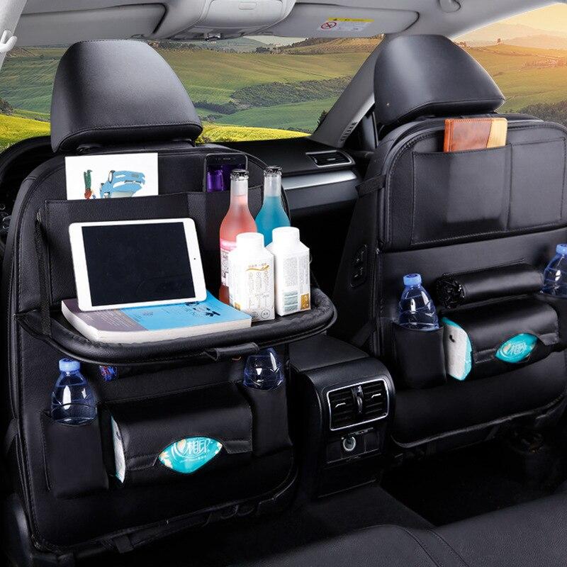 1 шт., искусственная кожа, автомобильное сиденье, Задняя сумка для хранения, Многофункциональный IPad, мини держатель, универсальный органайзер на заднее сиденье для хранения детей|Все для уборки|   | АлиЭкспресс