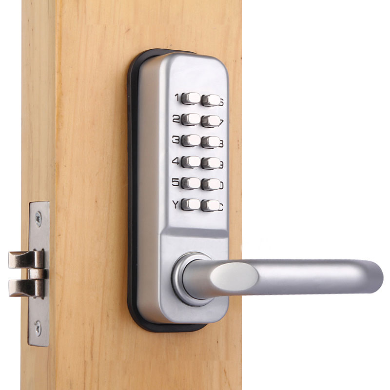 US $31 08 16% OFF|High quality and security Mechanical push button outdoor  keypad code door lock-in Door Locks from Home Improvement on Aliexpress com