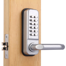 High quality and security Mechanical push button outdoor keypad code door lock