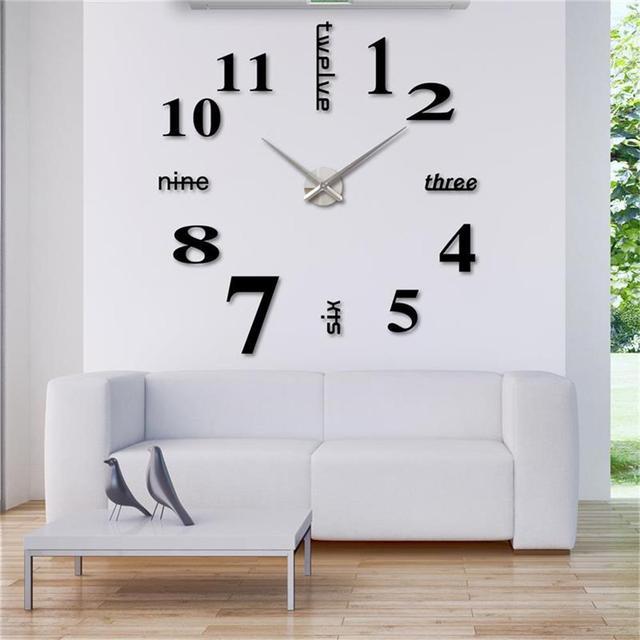 Home Decor Clocks Wall Diy Watch Mordern Horloge Mirror