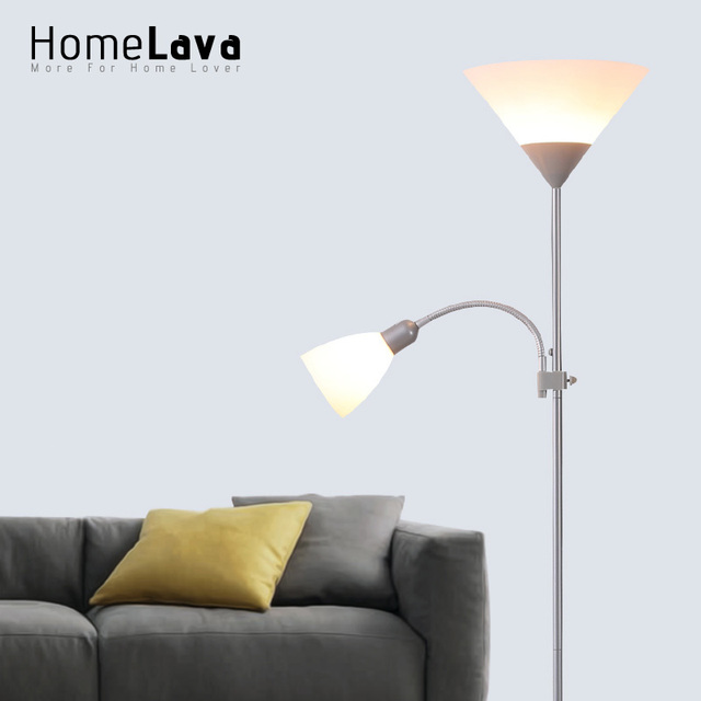 Hot Christmas Decorations Modern LED Floor Reading Lamp Light With 2  Disfused Lights For Home Lambader