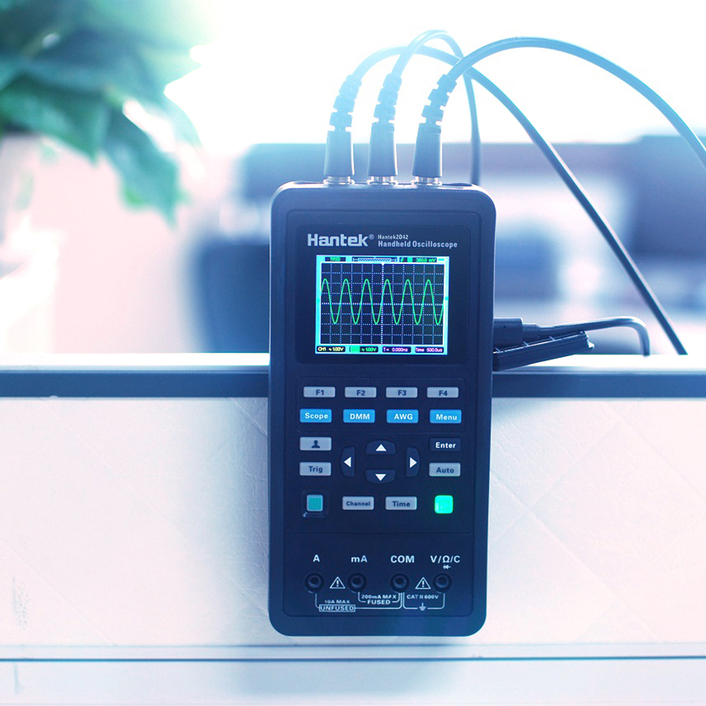 3 in 1 Handheld Digital Oscilloscope Waveform Generator Multimeter Single Dual channel Scope Meter USB Scopemeter With Probe