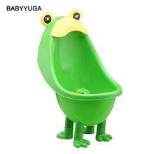 Kawaiii Grenouille Pot Bébé Urinoirs Garçon Mignon Enfants Potty Toilettes Formation Badine Urinoir En Plastique Animaux Debout Pots Avec Pied