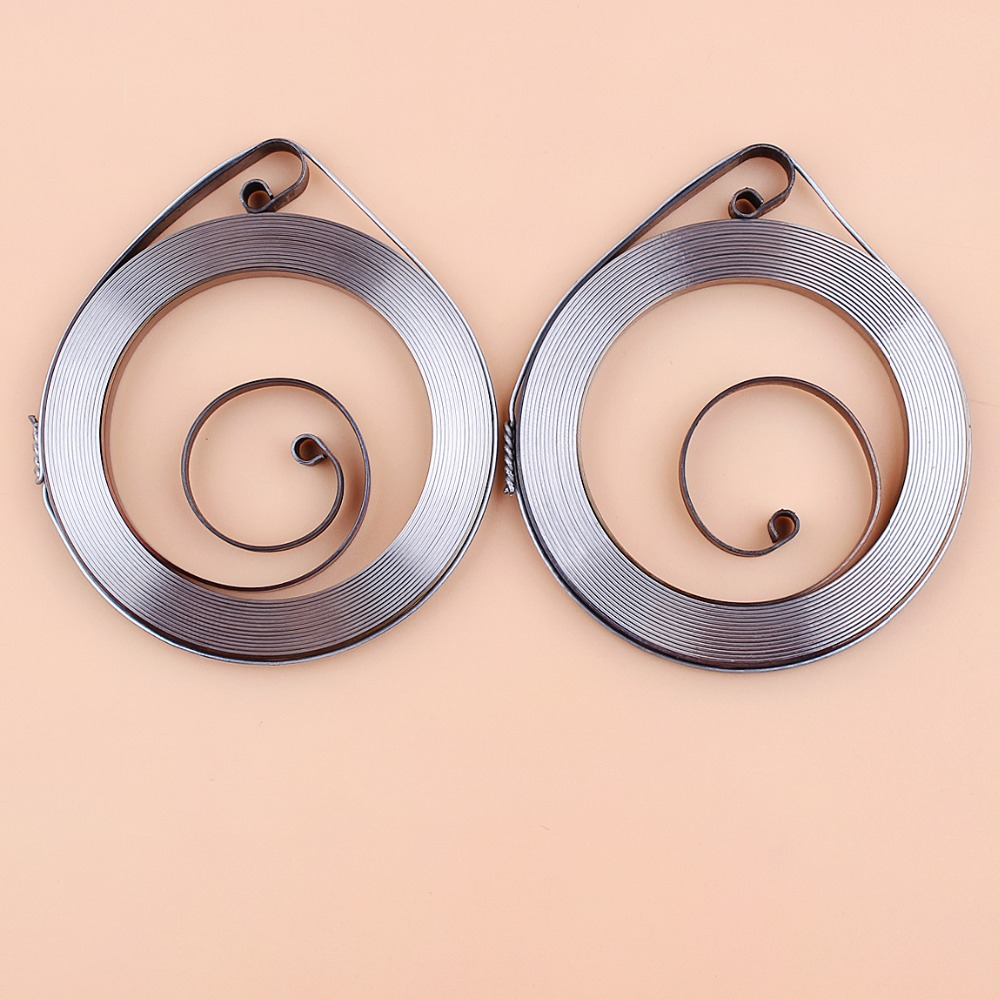 2Pcs/lot Recoil Starter Start Pull Spring For HUSQVARNA 61 66 266 268 288 272 Chainsaw Spare Parts #501 52 04 02