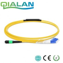 1m MTP MPO Patch Cable OM4 Female to 6 LC UPC Duplex 12 Fibers cord cores Jumper Breakout Cable, Type A, Typ