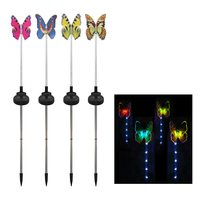 4Pcs LED Solar Garden Lawn light Color Changing Luminous Stake Garden Party Birthday Decor Glow Party Supplies Outdoor Lighting