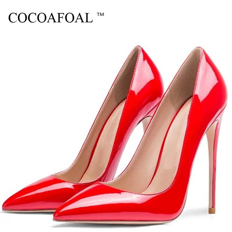 COCOAFOAL femmes talons hauts chaussures de mariage pompes Sexy grande taille parti en cuir verni troupeau talons hauts chaussures bout pointu 2019COCOAFOAL femmes talons hauts chaussures de mariage pompes Sexy grande taille parti en cuir verni troupeau talons hauts chaussures bout pointu 2019