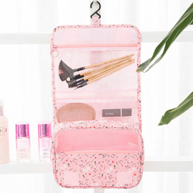 Yesello Travel Hanging Toiletry Bag by Hikenture Cosmetics Makeup and  Toiletries Organizer Compact Bathroom Storage Brush 37318e5a17fee