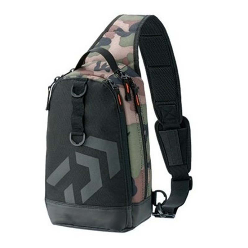 2018 New Daiwa Men Women Single Shoulder Fishing Bags Waterproof Leisure Multi Function Camouflage Backpacks Fishing