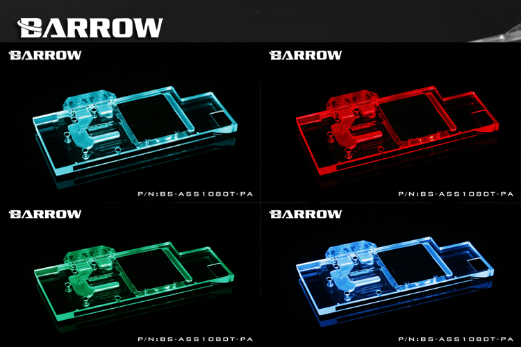 Купить с кэшбэком BARROW Full Cover Graphics Card Block use for MSI GTX1070 AERO ITX 8G OC Copper Radiator Cooler GPU Block RGB Light to AURA 4PIN