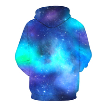 Women's Starry Sky and Unicorn Printed Hoodie