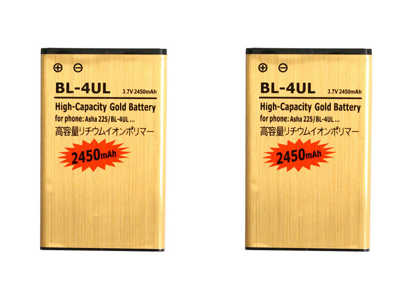 Seasonye 2pcs/lot 2450mAh <font><b>BL</b></font>-4UL / <font><b>BL</b></font> 4UL / BL4UL Gold Replacement Li-ion Battery For Nokia Asha <font><b>225</b></font> Asha225 + Tracking Code image