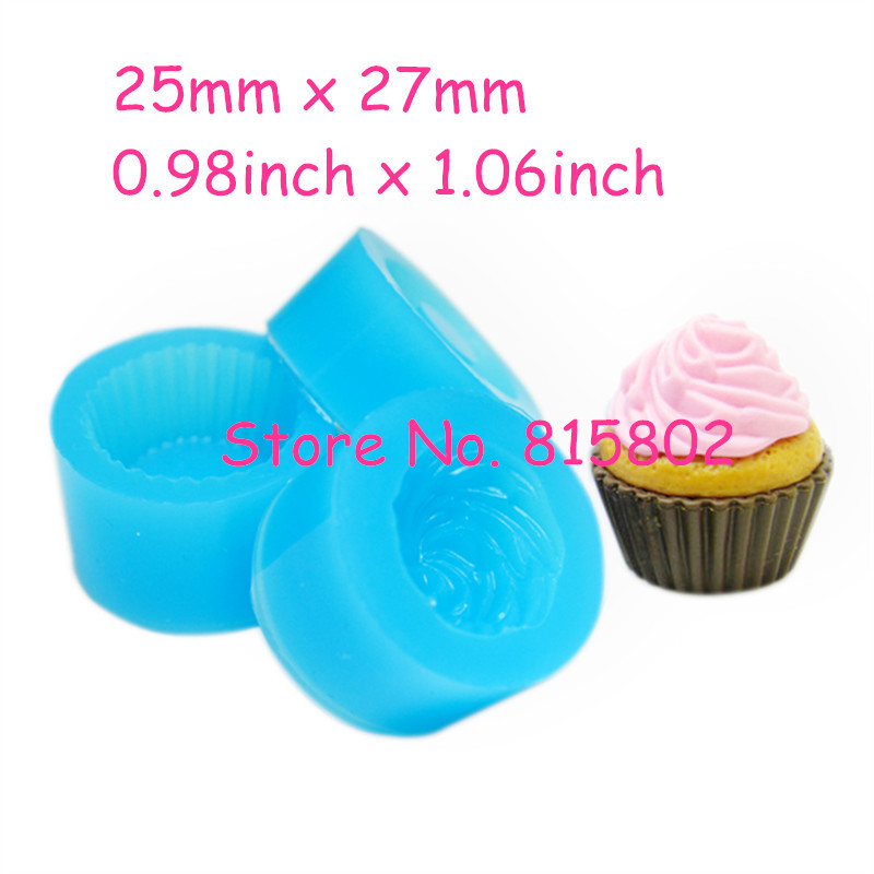Free Shipping GYL159/157/158U One Set 3Pcs Cupcake Mold 3D Silicone Flexible Mold Whipped Cream 25mm Deco Kawaii Sweets Mold