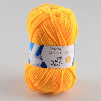 TPRPYN 1 шт. = 50 г пряжа для вязания крючком из молочного хлопка, мягкая теплая Детская Пряжа для ручного вязания - Цвет: 5 gold