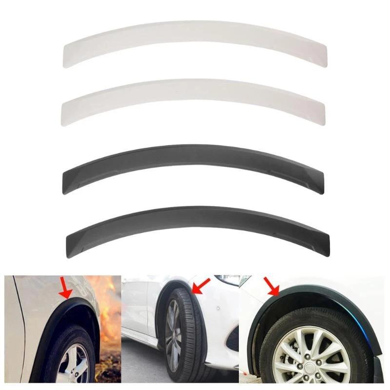 4pcs Universal Car Auto Fender Flares Arco Rueda Protector de cejas Guardabarros Pegatina PU Coche Modificaci/ón Accesorio