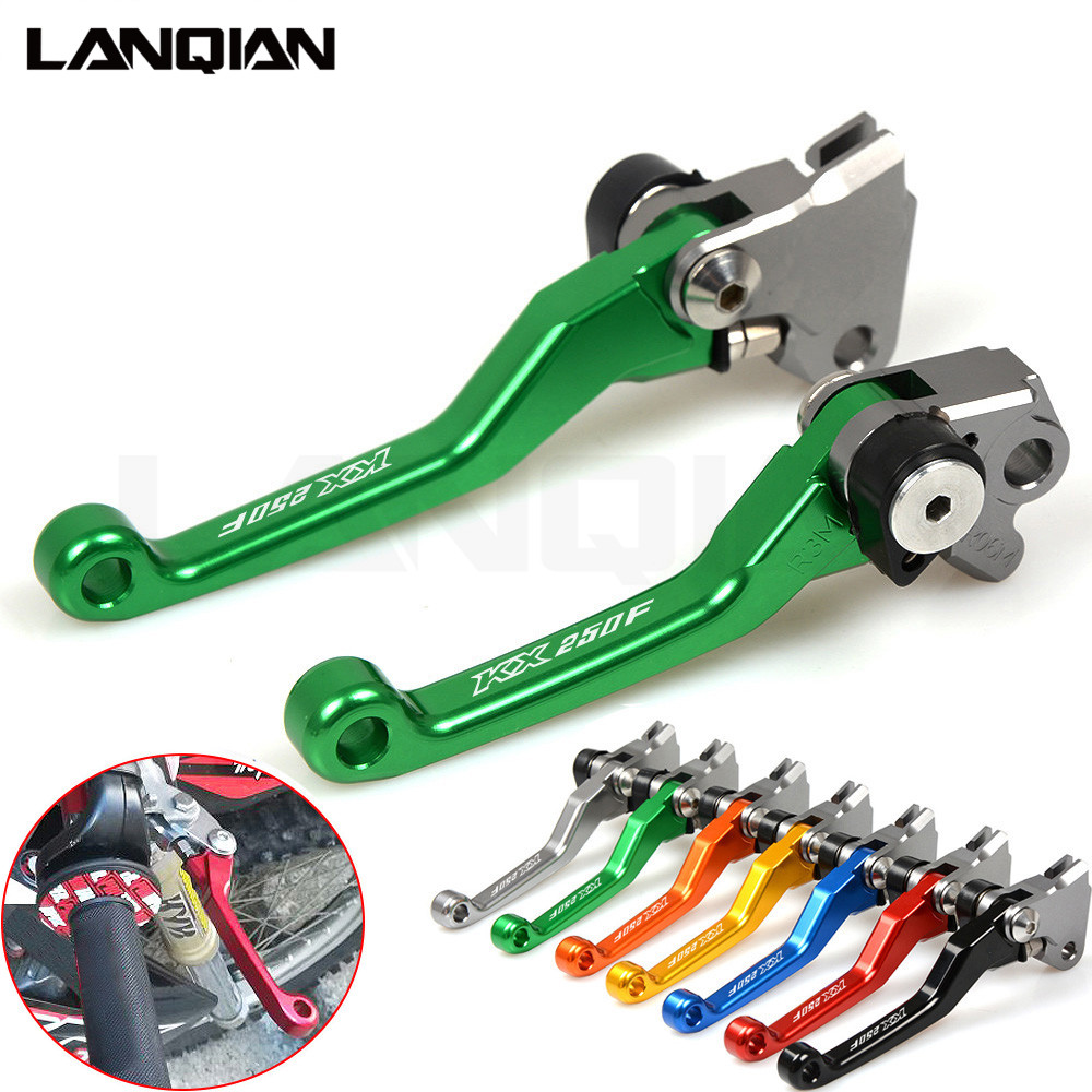 Handle Lever For Kawasaki KX250F 2004 CNC Green Motorcycle Brake Clutch Levers Dirt bike Pivot Lever KX 250 F KX 250F KXF 250 for honda crf 250r 450r 2004 2006 crf 250x 450x 2004 2015 red motorcycle dirt bike off road cnc pivot brake clutch lever