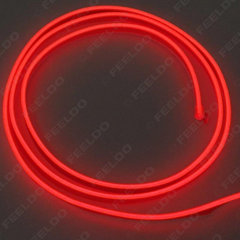 FEELDO 1PC 2M Ευέλικτη Χύτευση EL Neon - Φώτα αυτοκινήτων - Φωτογραφία 3
