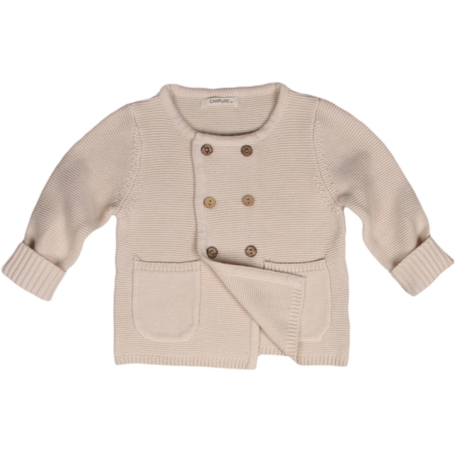 Kids Khaki Cardigan Sweaters 2016 New Casual Double Breasted Pockets Knitted Sweater Autumn Winter Outwear Clothing 12M-5Y GW29