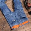 Comercio al por mayor 2016 nuevo Diseñador Clásica Fashion Brand Jeans Hombres, Hombres de la Marca Pantalones Vaqueros Rectos, Pantalones Vaqueros de Color azul de Alta Calidad para Los Hombres