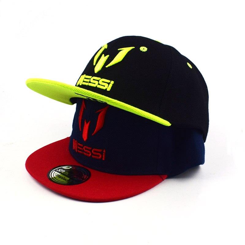 901606fd7c7f1 Crianças Messi messi osso grande bordado boné de beisebol do chapéu do snapback  chapéus dos miúdos