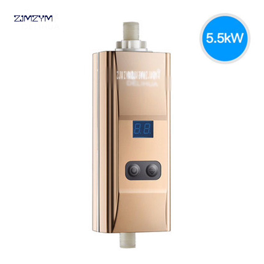 DLH-RM02 Bottom Water Flow Inlet Hot Water Tap Instant Tankless Kitchen Electric Water Heater Heating Faucet Shower Bath Heater