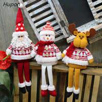 Ornamentos de natal sentado longlegged elf santa boneco de neve presentes de natal para 2018 ano novo 2019 decoração de natal para casa natale