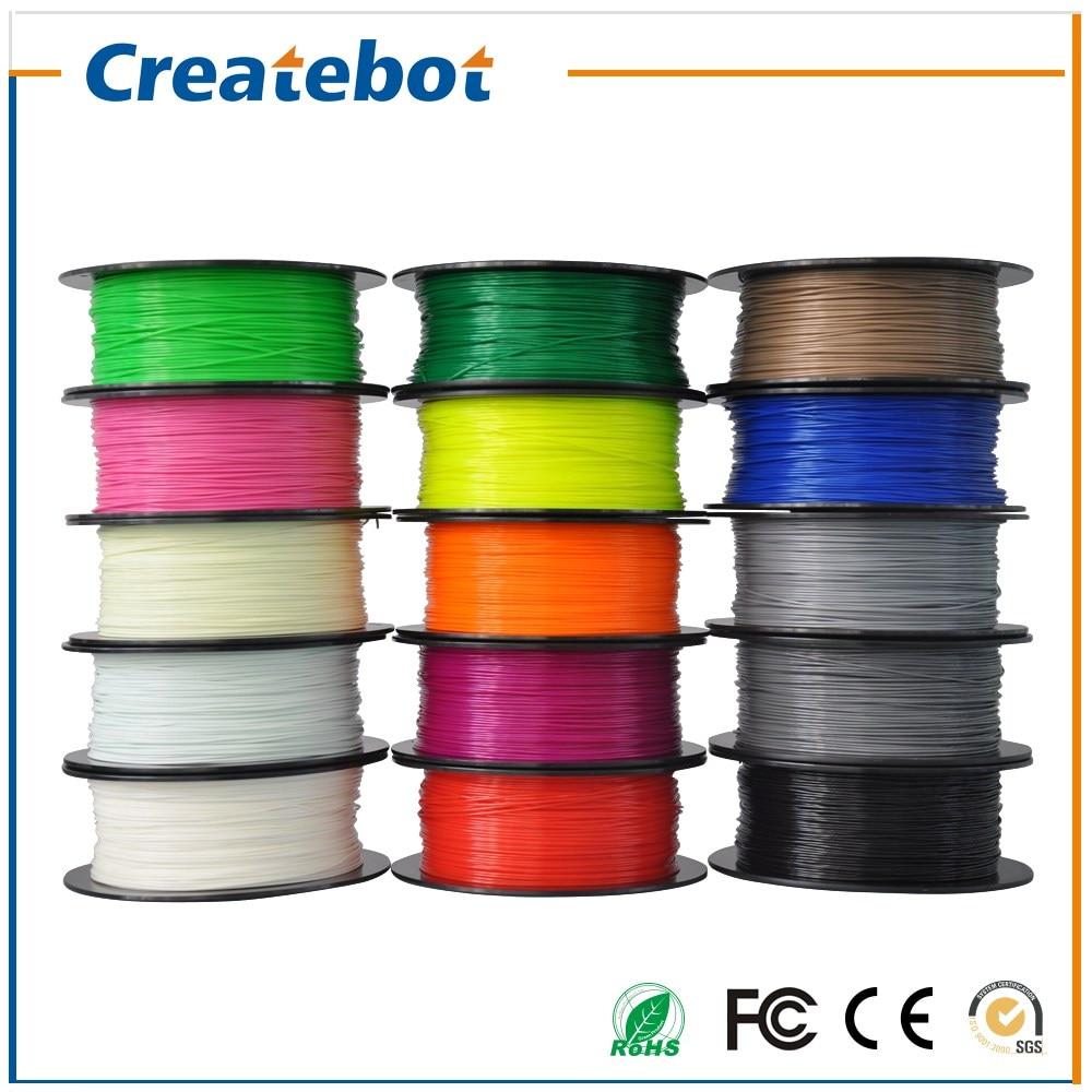 ФОТО Createbot PLA Filament High Intensity 1.75mm/3mm 10 Rolls One Carton 16 Colors for Option More Environmental for DIY Model