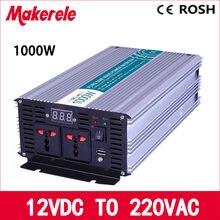 MKP1000-122 off grid puro dell'onda di seno 1000 w inverter 12 volt 220 volt convertitore votage, inverter solare Display A LED piena potenza