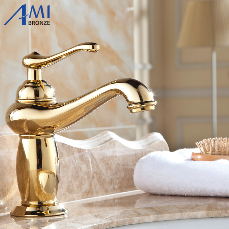 8 Golden Brass Faucets Bathroom Faucet Sink Basin Mixer Tap 930G8 Golden Brass Faucets Bathroom Faucet Sink Basin Mixer Tap 930G