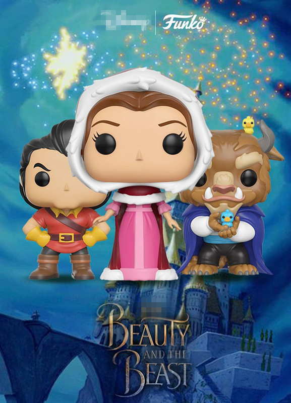 New FUNKO POP Official Beauty & The Beast - Winter Beast, Caston, Belle Vinyl Figure Collectible Toy with Original box