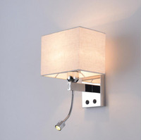 Modern Simple Bedside Led Bedroom Reading Wall Lamp Hotel Room Engineering Lights UL CE Foreign Trade