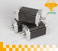 3pcs Nema 34 DUAL SHAFT stepper motor 3.5A 1600 oz.in CNC PALSMA longs motor