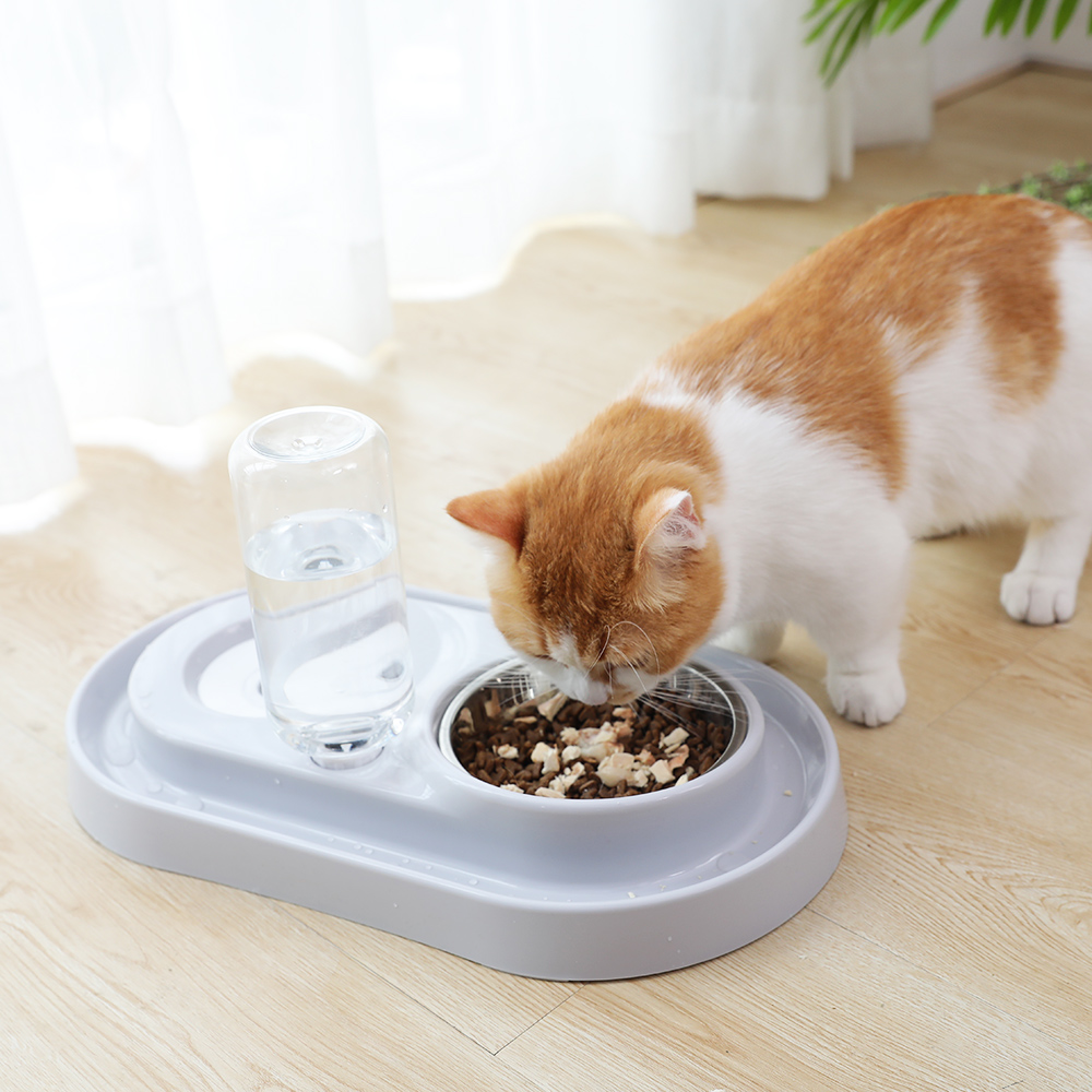 HOOPET Cat Bowl Dog Water Feeder Kitten Drinking Fountain Food Dish Pet Goods