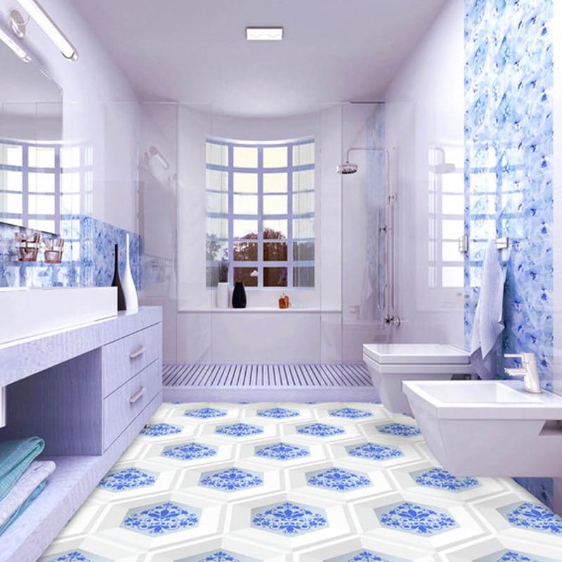 Beibehang custom mural wallpaper modern 3d hd non slip - Waterproof floor paint for bathrooms ...