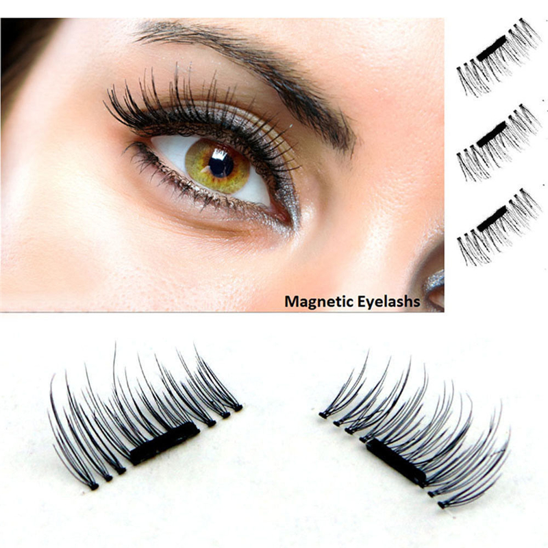Follome Magnetic False Eyelashes Hand Make Nature Long Volume Full Strip Fake Lashes Sparse Make Up Comestic Tools