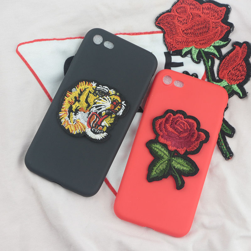 Flower Tiger Case For Google Pixel 2 Pixel2 XL Cases Soft Silicone Embroidery Rose Cloth Cover