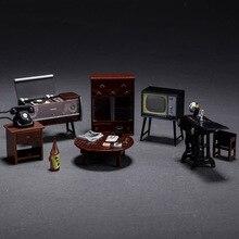 6 шт./компл. винтажная японская мебель кукольный домик Миниатюрный холодильник магнит мебель деревянная кукольная мебель